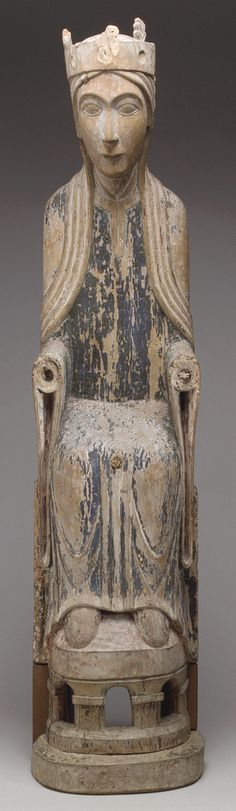 Enthroned Virgin, late 12th century  Scandinavian, perhaps from Gotland  Poplar with remains of polychromy
