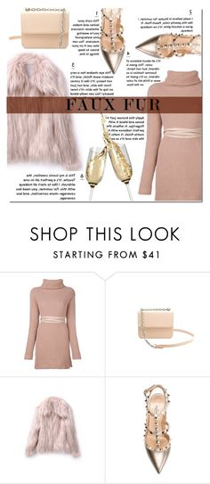 """""""Untitled #250"""" by kaia-salvatore ❤ liked on Polyvore featuring Valentino, fauxfur and fauxfurcoats"""
