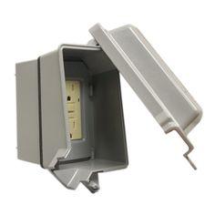 Gampak 1-Gang Rectangle Metal Weatherproof Electrical Box Cover