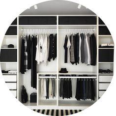 Bilderesultat for ikea pax garderobe Closet Bedroom, Home Bedroom, Bedroom Decor, Bedrooms, Pax Wardrobe Planner, Pax Planner, Room Planner, Dressing Ikea, Dressing Rooms
