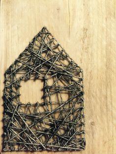String-art huisje, met raam!