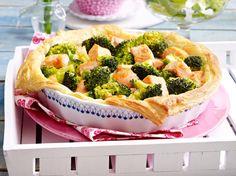 Lachs-Brokkoli-Quiche Rezept | LECKER
