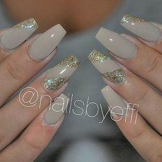 Beige with Bronze ♥ @nailsbyeffi  #gel #gelenaglar  #naglar #göteborg
