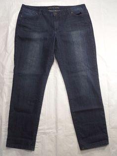 MICHAEL KORS blue denim STRAIGHT LEG womens jeans SIZE 12 #MichaelKors #StraightLeg