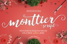 Monttier Script Font Duo + Extras by Heybing Supply Co. on Creative Market