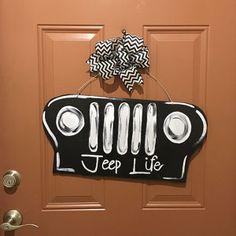 Wooden Jeep Door Hanger Made At Broken To Beautiful