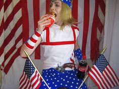 Sitting on a real cannon (from the Civil War even) draped in flags eating a cheeseburger and drinking a Coke with a gun shoved down my pants dressed as Johnny Joestar. Happy Fourth with the most AMERICA photo I have. I'm practically crying eagles out my eyes right now because I am so moved by my freedom.