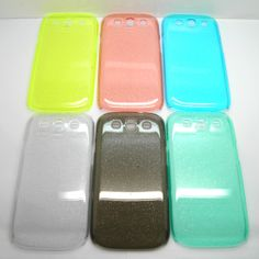 clear plastic phone case for Samsung