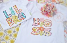 Big Sister Shirt Little Brother Body Suit Embroidered by KenaBows
