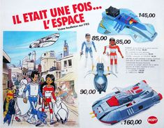 Les héros de l'espace dans les catalogues de jouets 1978-84 par Nath-Didile - Nostalgia, Ideal Toys, Vintage Toys, Nerf, Adventure, Anime, Products, Trading Cards, Toys