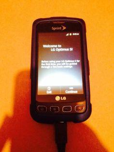 LG Optimus S LS670 - Black (Sprint) Smartphone Works Great! Touchscreen