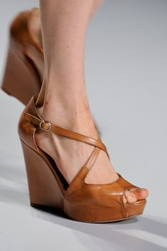 Daks wedges in brown. I don't normally love brown shoes but...these are cute.