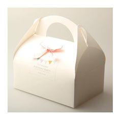 5 White / Kraft Handle Box (nd 034)