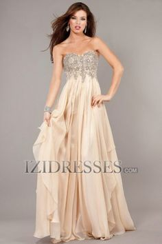 A-Line Sheath/Column Strapless Sweetheart Chiffon Prom Dress - IZIDRESSES.COM at IZIDRESSES.com