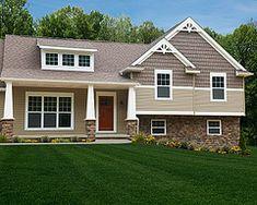 1000 ideas about split level home on pinterest split for Craftsman style split level homes