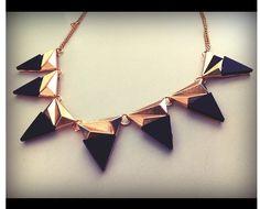 triangle bib necklace