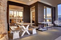 #outdoorliving Outdoor Living, Divider, Dining Table, Interior, Room, Furniture, Home Decor, Outdoor Life, Homemade Home Decor