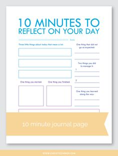 10 Minute Printable Guided Journal Pages — Christie Zimmer Bujo, Therapy Worksheets, Therapy Activities, Cbt Worksheets, Counseling Worksheets, Trauma, Enjoy The Little Things, Journal Pages, Daily Journal Prompts