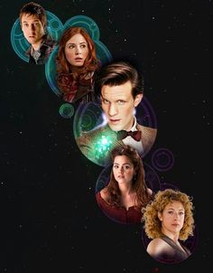 rory williams, amy pond (amy williams), 11th doctor, Clara Oswald, River song (doctor who's daughter)