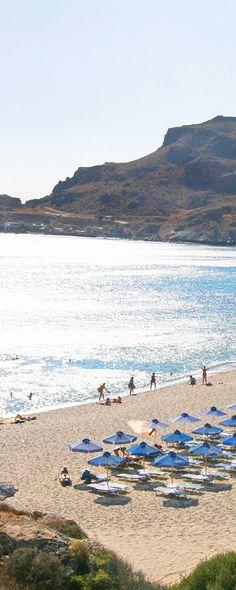 Damnoni beach in Rethymno