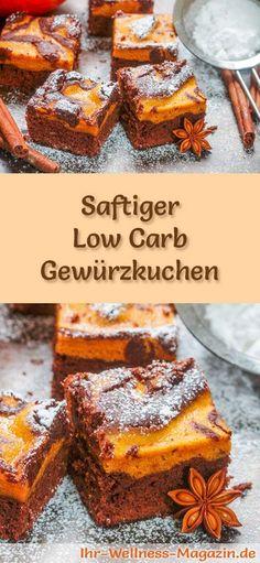 Rezept für einen Low Carb Gewürzkuchen - kohlenhydratarm, kalorienreduziert, ohne Zucker und Getreidemehl