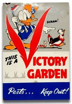 Donald Duck Cartoon VG Sign