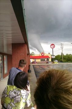 """""""A tornado warning siren is a signal for everybody to rush outside and look for a funnel cloud""""  (You May Be From Alabama If...#3)...Tornado in Cullman, AL--April 27, 2011"""