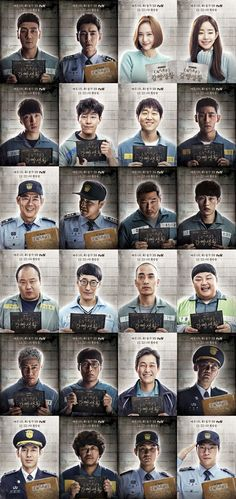 """tvN's upcoming Wednesday-Thursday drama """"Prison Playbook"""" has released 24 new character posters ahead of its upcoming premiere. """"Prison Playbook"""" will be p Korean Drama Best, Korean Drama Movies, Korean Actors, Korean Dramas, Kdrama, Prison Life, Weightlifting Fairy Kim Bok Joo, Drama Memes, Won Ho"""