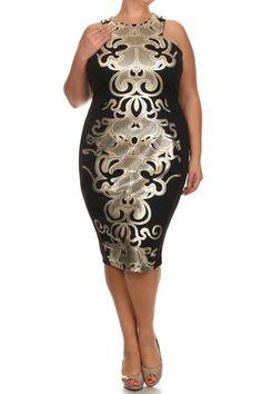 Plus Size Designer Queen Dress (plus size) #plussizefashion #dress                                                                                                                                                                                 More