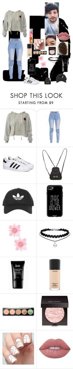 """""""Louis the Tommo Tomlinson"""" by dramatixgirl ❤ liked on Polyvore featuring Sans Souci, adidas, Gucci, Topshop, Casetify, MAC Cosmetics, MAKE UP FOR EVER, Laura Mercier and Lime Crime"""