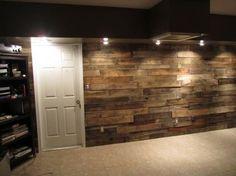 Pod Lights And Wood Plank Wall. My Future Basement