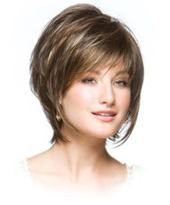 Layered Bob | reese sassy tousled layered bob with fringe color shown chocolate ...