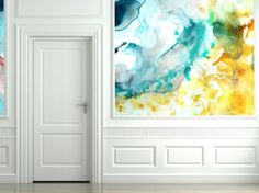Water Color Walls.  Available at Black Crow Studios http://www.blackcrowstudios.com/index2.php#/home/ Love!!!!!!!