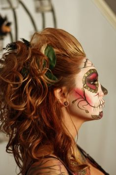 Love the hair for dressing up! And the face paint for a Halloween party occasion.
