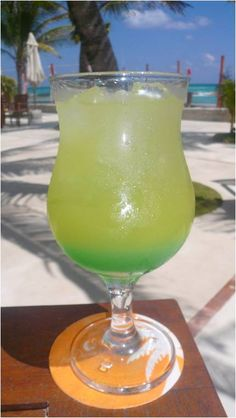 Gator Tail #Recipe: Vodka, pineapple juice, peppermint schnapps