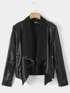 You seriously do not want to miss out on this jacket! It features zip design. Pair it with shoes for street out would be great this season. Suede Trench Coat, Off Black, Jacket Pattern, Buy Dress, Beautiful Gowns, Everyday Fashion, Leather Jacket, Blazer, Zip