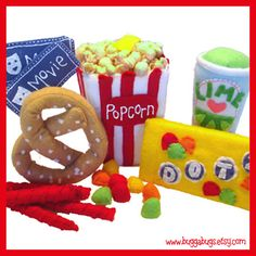 Bugga Bugs Movie Time Felt Play Food Pattern | Flickr: Intercambio de fotos