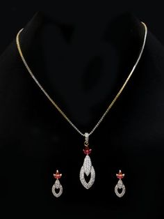 Cilory is one stop online shopping store for latest kids wear, mens and womens clothing. Buy accessories, footwear, lingerie's, designer kurtis & dresses at best price. American Diamond Jewellery, Diamond Jewelry, Diamond Red, Pendant Set, Pendant Necklace, Nightwear Online, Imitation Jewelry, Winter Wear, Online Shopping Stores