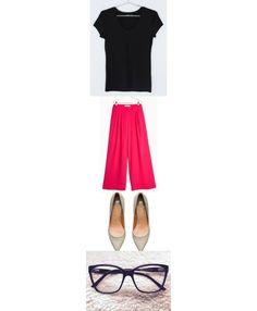 Quiero demostrar que se pueden crear 365 #outfits como un fondo de armario reducido. #Outfit365  Camiseta de H&M Pantalon palazzo de MANGO Zapatos de H&M Gafas para ver (de optica) :p