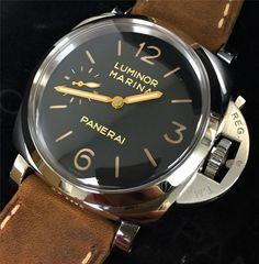 PANERAI PAM00422 LUMINOR MARINA 1950 3 DAYS  / BLACK DIAL / BROWN LEATHER / LNIB #Panerai
