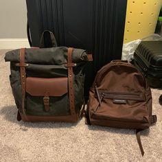 Travel waterproof rolltop backpack, Waxed canvas and leather. Waxed Canvas Bag, Canvas Backpack, Laptop Backpack, Canvas Leather, Travel Backpack, Leather Crossbody Bag, Leather Backpack, Leather Briefcase, Leather Bag