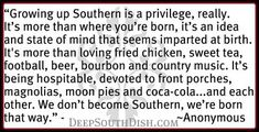 Growing up Southern...