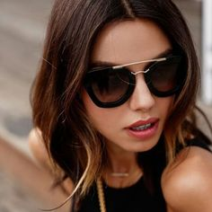 Gorgeous Annabelle Fleur @vivaluxury in Prada Cinema PR13QS #sunglasses Get the look at FourSunnies.com #prada #pradasunglasses #cinema #bloggers #style #stylish #love