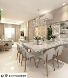 Cute modern kitchen design on a budget 38 Interior Design Kitchen, Interior Design Living Room, Living Room Decor, Kitchen Decor, Interior Livingroom, Elegant Dining Room, Dining Room Design, Dining Rooms, Dining Table