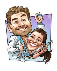 caricatura JUAN y EUGE