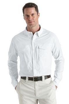 Coolibar UV werend overhemd heren wit
