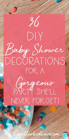 36 DIY Baby Shower D