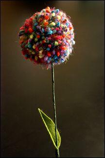 pom pom flowers :)