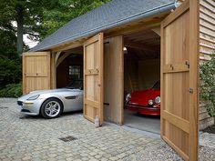 Carports et garages Garage Loft, Garage Shed, Barn Garage, Garage Doors, Carport Designs, Design Garage, Solar Panel Cost, Solar Panels For Home, Best Solar Panels