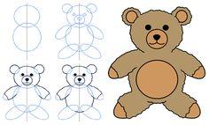 How to draw a Teddy Bear - white teddy bear green bow = a teddy bear for Harry fanfiction by ballet fairy